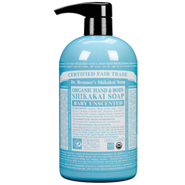 Dr Bronner`s Organic Unscented Hand & Body Shikakai Soap 710ml