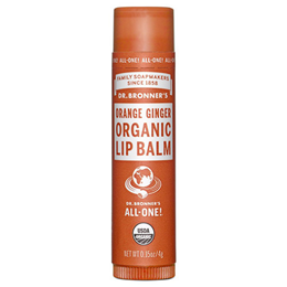 Dr Bronner`s Organic Orange Ginger Lip Balm 4g