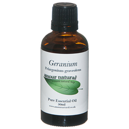 Amour Natural Geranium Pure Essential Oil - 50ml