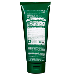 Dr Bronner`s Organic Lemongrass Lime Moisturising Shaving Gel 207ml