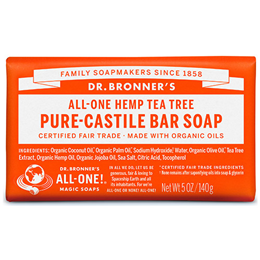 Dr Bronner`s Tea Tree Castile Soap Bar - 140g