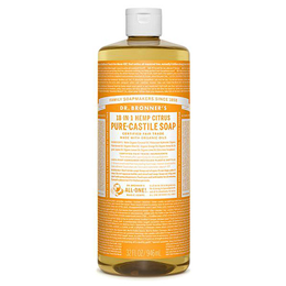 Dr Bronner`s 18-in-1 Organic Hemp Citrus-Orange Pure-Castile Liquid Soap - 946ml