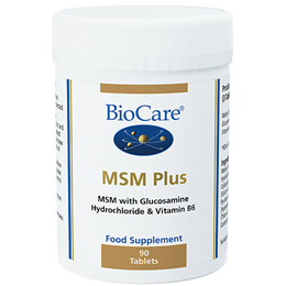BioCare MSM Plus - With Glucosamine & B6 - 90 Tablets