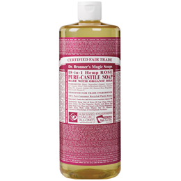 Dr Bronner`s 18-in-1 Organic Rose Castile Liquid Soap 946ml