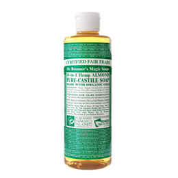 Dr Bronner`s 18-in-1 Organic Almond Pure-Castile Liquid Soap - 237ml