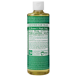 Dr Bronner`s 18-in-1 Organic Almond Castile Liquid Soap 473ml