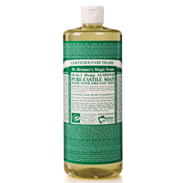 Dr Bronner`s 18-in-1 Organic Almond Castile Liquid Soap 946ml