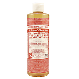 Dr Bronner`s 18-in-1 Organic Eucalyptus Castile Liquid Soap 473ml