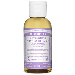 Dr Bronner`s 18-in-1 Organic Lavender Castile Liquid Soap 59ml