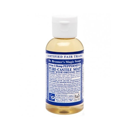 Dr Bronner`s 18-in-1 Organic Peppermint Castile Liquid Soap 59ml