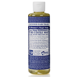 Dr Bronner`s 18-in-1 Organic Peppermint Castile Liquid Soap 118ml