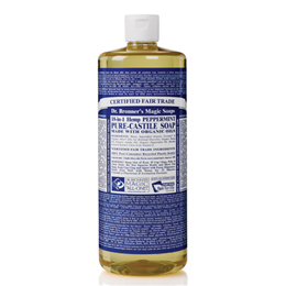Dr Bronner`s 18-in-1 Organic Peppermint Castile Liquid Soap - 946ml