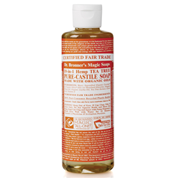 Dr Bronner`s 18-in-1 Organic Tea Tree Castile Liquid Soap 237ml