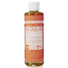 Dr Bronner`s 18-in-1 Organic Tea Tree Castile Liquid Soap 473ml