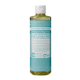 Dr Bronner`s 18-in-1 Baby-Mild Unscented Castile Liquid Soap - 118ml