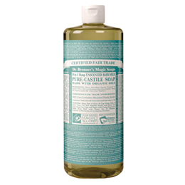 Dr Bronner`s 18-in-1 Organic Baby-Mild Unscented Pure-Castile Liquid Soap - 946ml