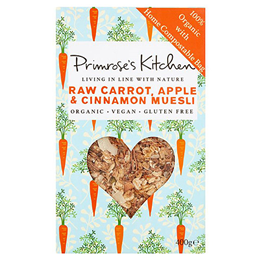 Primrose`s Kitchen Raw Carrot, Apple & Cinnamon Muesli - 400g