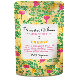 Primrose`s Kitchen Organic Energy Juice and Smoothie Booster - 100g - Best before date is 31st May 2019