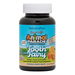 Nature`s Plus Animal Parade Tooth Fairy 90 Vanilla Chewable Tablets