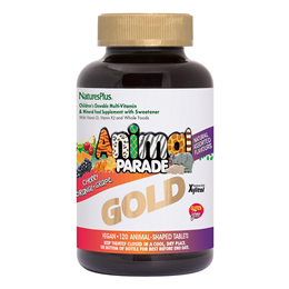 Natures Plus Gold Animal Parade Multivitamin & Mineral  -120 Chewables