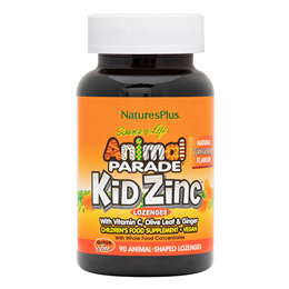 Nature`s Plus Animal Parade KidZinc 90 Tangerine Lozenges