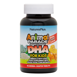 Natures Plus Animal Parade DHA Omega-3 Fatty Acid 90 Chewable Tablets