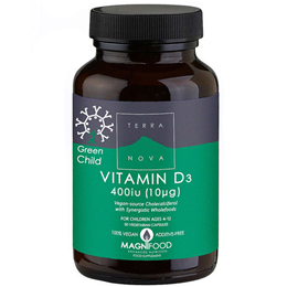 TERRANOVA Green Child Vitamin D3 400iu - 50 Vegicaps