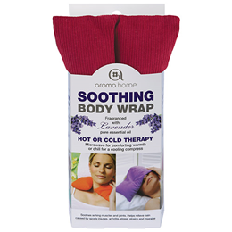 Aroma Home Soothing Body Wrap - Lavender Fragrance - Deep Burgundy