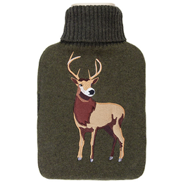 Aroma Home Knitted Stag Hot Water Bottle
