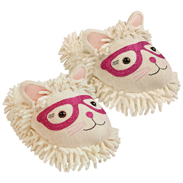 Aroma Home Fun for Feet - Fuzzy Slippers - Cat in Glasses