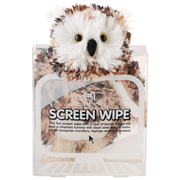 Aroma Home Screen Wipe - Owl - Lemon Fragrance