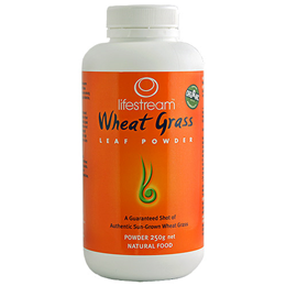Lifestream Certified Organic Wheat Grass Leaf Powder - 250g - Best before date is 31st January 2019