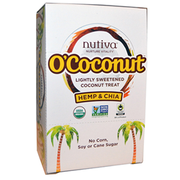 Nutiva O`Coconut Hemp & Chia - 14g x 24 Coconut Treats - Best before date is 19th March 2018