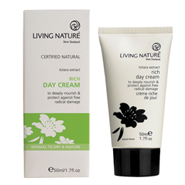 Living Nature Rich Day Cream - Totara Extract - 50ml