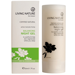 Living Nature Balancing Night Gel - Active Manuka Honey - 50ml