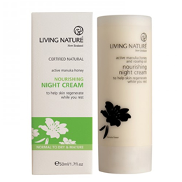 Living Nature Nourishing Night Cream - Active Manuka Honey - 50ml