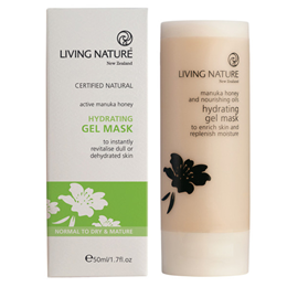 Living Nature Hydrating Gel Mask - Active Manuka Honey - 50ml - Best before date is 31st December 2016
