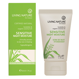 Living Nature Sensitive Night Moisture - Harakeke - 50ml  - Best before date is 30th November 2016