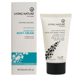 Living Nature Ultra Rich Body Cream  - Active Manuka Honey - 150ml