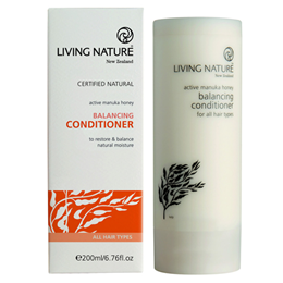 Living Nature Balancing Conditioner - Active Manuka Honey - 200ml - Best before date is 31st May 2018
