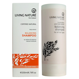 Living Nature Balancing Shampoo - Kelp Extract - 200ml