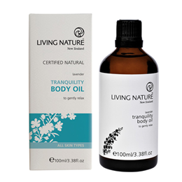 Living Nature Tranquility Body Oil - Lavender - 100ml