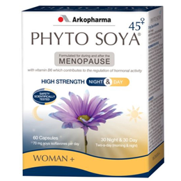 Arkopharma Phyto Soya for Menopause - Night & Day - 60 Capsules