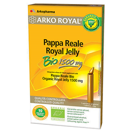 Arkopharma Arko Royal - Organic Royal Jelly - 1500mg - 10 x 15ml Vials