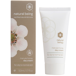 natural being Manuka Honey Day Cream - Oily & Normal Skin Types - 50ml