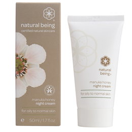 natural being Manuka Honey Night Cream - Oily & Normal Skin - 50ml  - Best before date is 30th November 2016