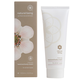 natural being Manuka Hand & Body Cream - All Skin Types - 100ml