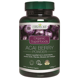 Natures Aid Organic Acai Berry Superfood Powder - 120g