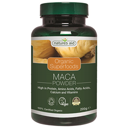 Natures Aid Organic Maca Superfood Powder - 200g - Best before date is 30th April 2019