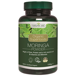 Natures Aid Organic Moringa Superfood Powder - 150g
